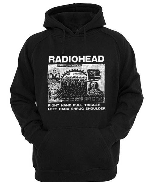 radiohead cover quote black color Hoodies