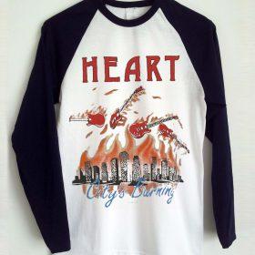 Heart Vintage Baseball T-shirt