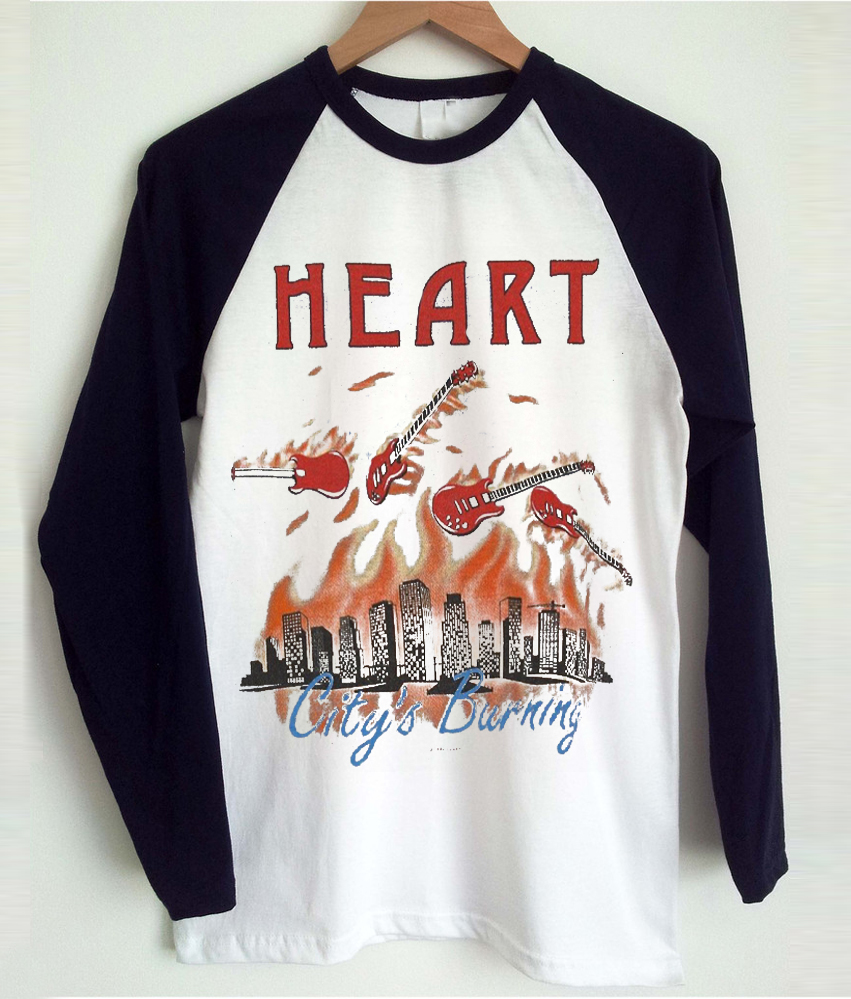 Heart Vintage Baseball T-shirt
