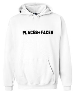 places faces hoodie
