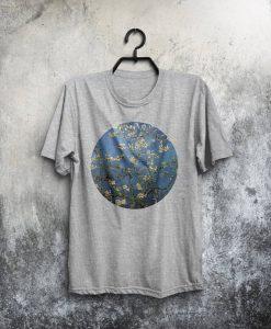 Van Gogh Shirt Almond Blossom T Shirt Male Fashion Van Gogh T-Shirt Man Tee Art Painting T-Shirt Birthday Gift For Him Men Van Gogh Tshirt