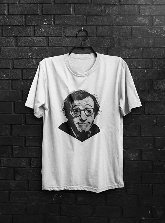 Woody Allen Shirt Men T Shirt White T-Shirt Gray Tshirt Film Director Shirt Quote T-Shirt Cinema Shirt Movie T-Shirt Comedy Shirt Director