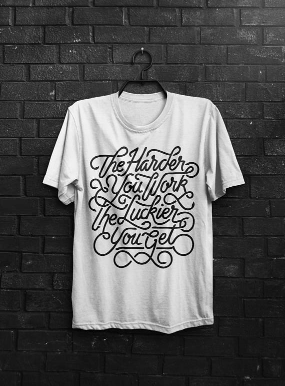 Work Hard Shirt Men T Shirt White T-Shirt Gray Tshirt Man Tee Men Clothing Typography Shirt Quote T-Shirt Motivational Quote Inspirational