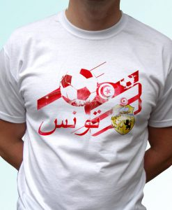 Tunisia football flag tag white t shirt top short sleeves - Mens, Womens, Kids, Baby - All Sizes!