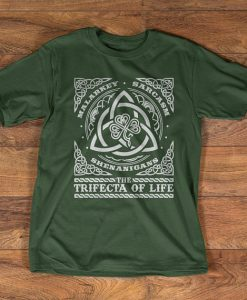 Unisex T-Shirt - Irish t-shirt - Malarkey Sarcasm Shenanigans - The Trifecta of life