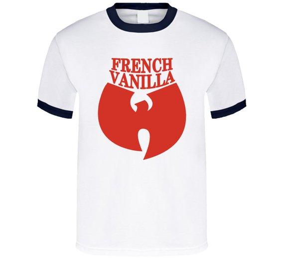Wutang French Vanilla Hip Hop Music Ice Cream Navy Ringer T Shirt