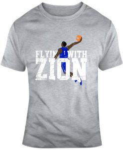 Zion Williamson Flyin With Zion College Basketball Fan T Shirt