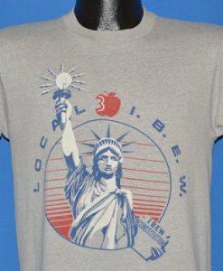80s I.B.E.W. Statue of Liberty t-shirt