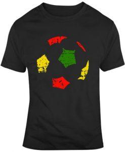 World Cup 2018 German National Team Ball Silhouette Distressed Soccer Fan T Shirt