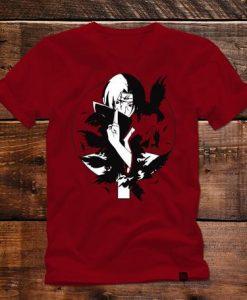 Uchiha Naruto Shirt, Anime Shirt, Unisex Adult and Youth, Red Shirt,