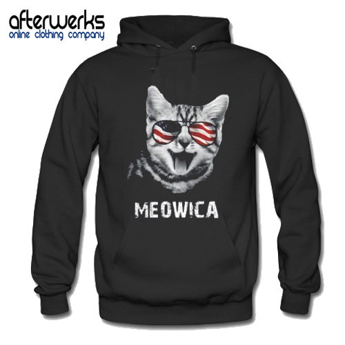 4th of July Meowica Women's Hoodie