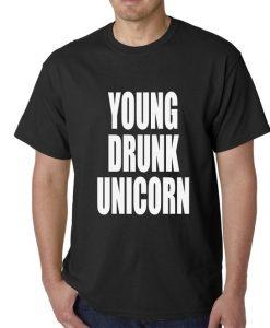 Young Drunk Unicorn Funny Men's TShirt