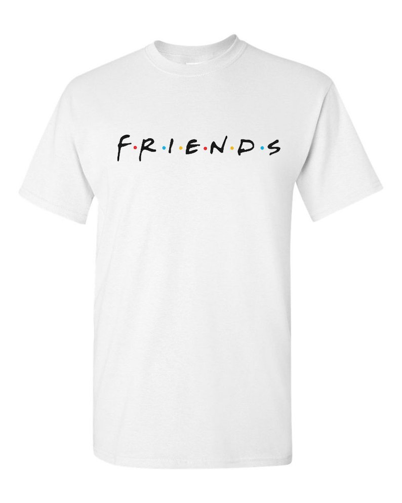 FRIENDS 90's Famous TV Show T SHIRT Classic Childhood Throwback Tee