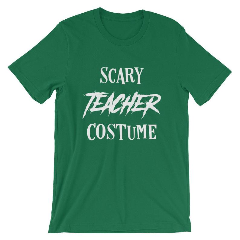 Scary Teacher Costume Halloween Tshirt Novelty Tee Graphic Shirt Funny Gift Short-Sleeve Unisex T-Shirt