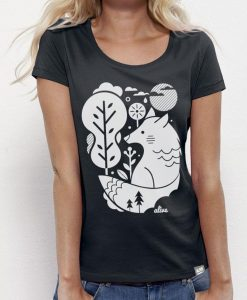 WHITE WOLF T-Shirt Girls (Black)