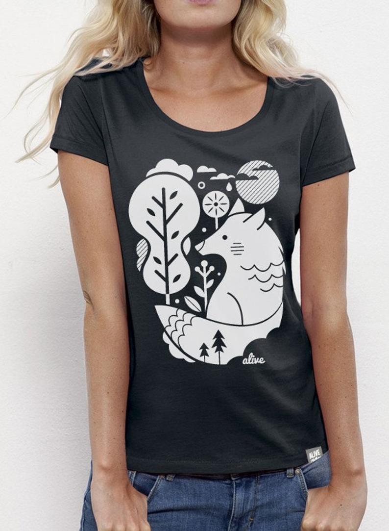 WHITE WOLF T-Shirt Girls (Black)