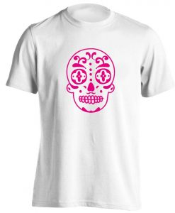 sugar skull, t-shirt Halloween trick or treat goth skeleton dead bones gift 764