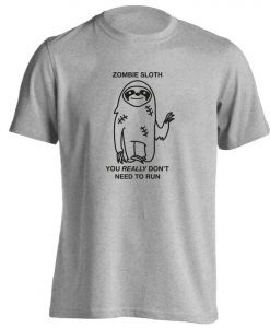 zombie sloth, t-shirt Halloween trick or treat zombies dead spooky scary funny joke gift 2953